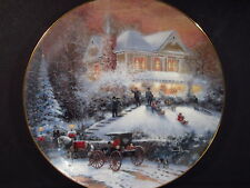 Kinkade 1993 An Old Fashioned Christmas ALL FRIENDS ARE WELCOME  Ltd Ed Plate