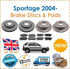 For Kia Sportage 2.0 2.0 CRDI 2.7 2004- KNE Front & Rear Brake Discs & Pads Set