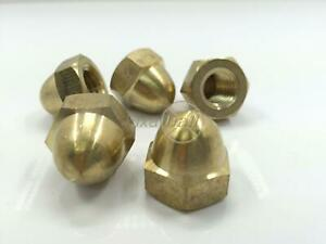 Dome Nuts, Brass, DIN 1587.