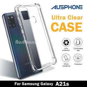 Case For Samsung Galaxy A21s Clear Shockproof Gel Bumper Heavy Duty Cover