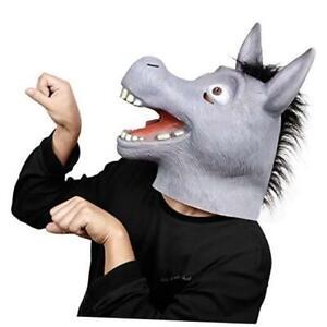 Donkey Mask, Halloween Funnynimal Costume Full Head Masks Latex fordults A