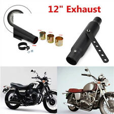 "100% Brand new black 12"" iron Motorcycle Exhaust Pipe For Custom WE38020"