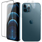 For iPhone 13/12 Pro Max,Mini Full Coverage Tempered Glass/Lens Screen Protector