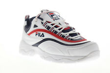 Fila Ray 1CM00501-125 мужские белые повседневные шнуровке низкие кроссовки обувь