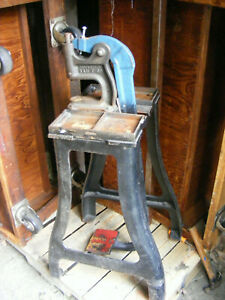 Industrial age Kick Press Punch Press  repurpose steampunk cast iron pickup CT