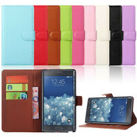 For Samsung Galaxy Note Edge Case Flip Leather Cover Wallet Card Stand Case Skin