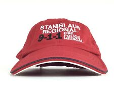 Stanislaus Regional 911 Police Fire Medical Embroidered Red Baseball Cap Hat Adj