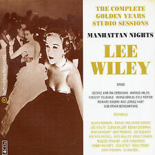 Lee Wiley-Manhattan Nights-Complete Golden Years Studio Sessions-4 Cd Box-1999!