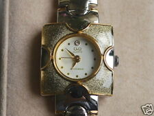Nice NOS Q&Q by Citizen Lady Dress Watch in Square Style