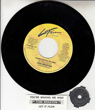 "TONI BRAXTON You're Making Me High 7"" 45 record + juke box title strip RARE!"
