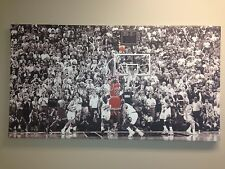 "Michael Jordan ""Last Shot"" UV Digital Printed High Quality Matte Canvas Poster"