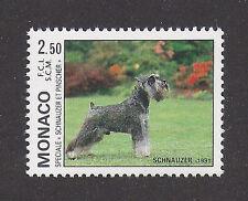 Dog Show Photo Body Portrait Postage Stamp MINIATURE SCHNAUZER 1991 Monaco MNH