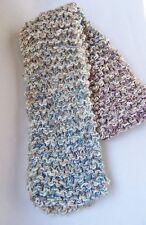 """Handknit Brown Scarf Mulit Color Yarn Scarves 57"""""""