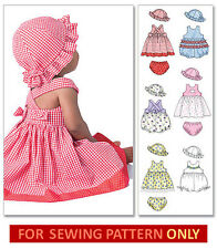 SEWING PATTERN! MAKE SUNDRESS~ROMPER~HAT! BABY~TODDLER GIRL! 6 - 24 MONTHS