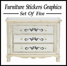 5 X FRENCH SCROLL STYLE FURNITURE STICKERS/ GRAPHICS/ WALL STICKERS?
