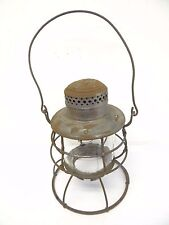Antique Old Used Dietz Vulcan NY USA Railroad Train Lantern Lamp Body Cage Parts