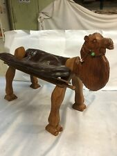 New listing Rare hand carved camel foot rest leather Seat