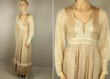 Vtg GUNNE SAX by Jessica SF Floral Victorian Lace Long Prairie Dress Gown 7