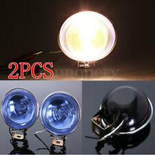 2pcs Universal 12V H3 55W Blue Fog Spot Light Reverse Lamp Car Van Truck Round