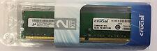 Crucial 4GB 2x 2GB PC2-8500U PC8500 1066MHz Non-ECC DDR2 Memory CT25664AA1067