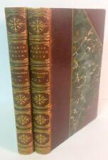 RARE 1st Ed 1840 THACKERAY PARIS Sketch Book by Mr Titmarsh 2v Leather