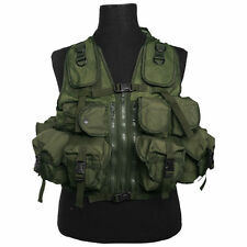 9 Pocket Olive Green Tactical Assault Vest Rig Army Military Ammo Utility Pouch