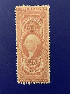 S6/33 US REVENUE 1862 SC R46 25c Unused NH No Gum Very Fresh & Nice Center