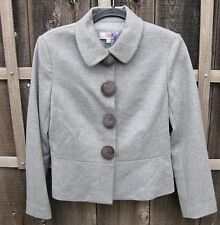 Lilac Gray Heather LUXE Wool Cashmere MINK Suit Jacket Blazer Wms US 12 USA! NWT