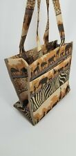 Joymax African Print Tote Bag with Matching Coin Purse Tribal Safari Lunch Lion
