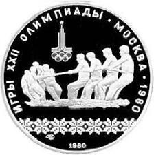 RUSIA URSS 1980. 10 RUBLOS PLATA BU UNC. J.O. CUERDA