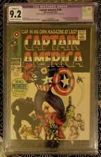 CAPTAIN AMERICA #100 CGC 9.2 Restored Marvel Comic First Issue 1968