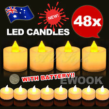 48x Flameless LED Candle Flickering Tea Light Battery Operated Christmas Wedding