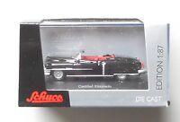 1953 BLACK CADILLAC ELDORADO CONVERTIBLE SCHUCO 1:87 HO SCALE DIE-CAST CAR