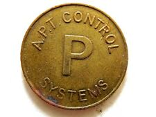 """Vintage Classic """"A.P.T. Control Parking Systems"""" Great Britain Parking Token"""