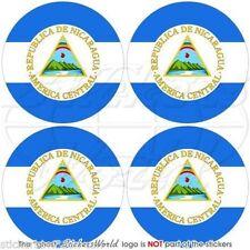"""NICARAGUA Central America, Nicaraguan Bumper-Helmet Stickers, Decals 2""""(50mm) x4"""