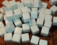 48 Blank White Dice, 16 mm Plastic Cubes, White Counting Cubes, Educational