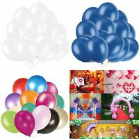 "100PCS HELIUM Pearlised Latex Balloons 10"" Wedding Birthday Party CHRISTENING Vi"