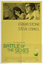 BATTLE OF THE SEXES MOVIE POSTER DS ORIGINAL FINAL 27x40 EMMA STONE STEVE CARELL