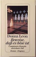 Donna leon firmado pruebas libro original firma firma autógrafo