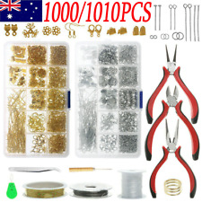 1000/1010PCS Jewellery Making Kit Wire Findings Pliers Starter Tool Earring DIY
