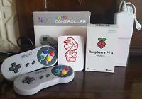 64GB Raspberry Pi 3 Model B+ 2 SNES Type Pads Official PSU mini Retro Arcade Pie