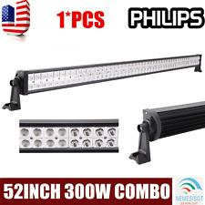 PHILIPS 52Inch 300W Led Offroad Light Bar Flood Spot Combo Offroad BOAT UTE Lamp