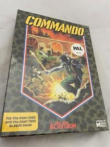 Atari 2600 VCS Original Sealed Commando Boxed Cartridge Video Game 1985