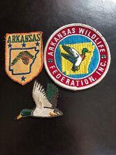 Vintage Arkansas Wildlife Federation Duck Patches Lot