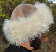 Mongolian warm hat made from natural materials leather sheepskin men/women