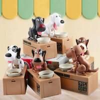 Puppy Pet Dog Stealing Eating Coin Money Box Piggy Storage Bank Saving Box UK