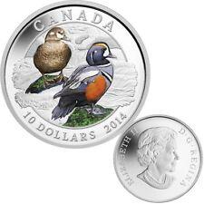 2014 $10 Fine Silver Coloured Coin - Ducks of Canada - Harlequin Duck