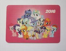 "2016 year My Little Pony Pocket Calendar English reverse side 2.7x3.9"""