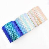 1 Yard Rainbow Gradient Mermaid Scale Ripple Ribbon DIY Craft Material Supplies