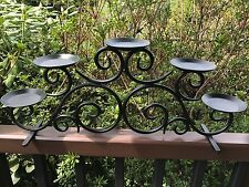 Party Lite Hearthside Wrought Iron Candlabra Pillar Candle Stand